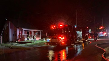 No injuries reported after North Knoxville house fire