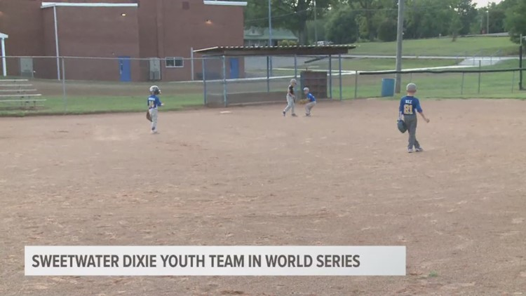 Sweetwater Dixie Youth Baseball Team in the World Series