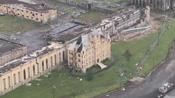 Historic state prison damaged in tornado