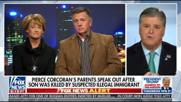 Grieving parents of Pierce Corcoran speak about their son, illegal immigration on 'Hannity'