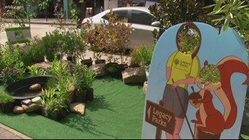 Mini parks in downtown Knoxville
