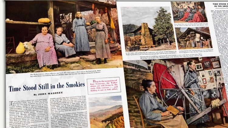 April 1946 Saturday Evening Post article Walker Sisters Great Smoky Mountains