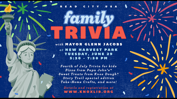 Knox County Mayor Jacobs to Host Kids' Trivia Night at New Harvest Park