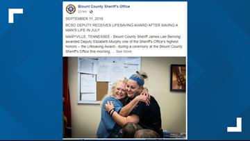 BCSO deputy receives lifesaving award after saving a man's life with CPR