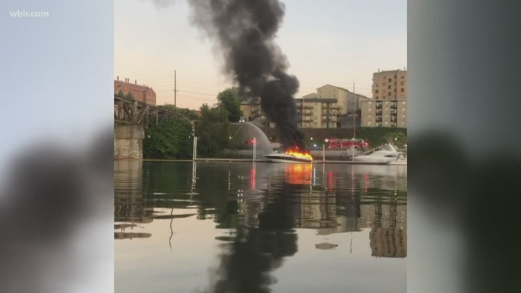 A witness describes fire at the Vol Navy dock
