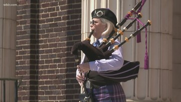 Care Cuts, bagpiper bring joy to homeless with free meals, songs