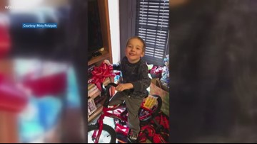 12-year-old donates bike to preschooler