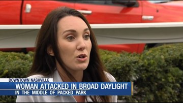 Woman attacked at popular Nashville park in broad daylight