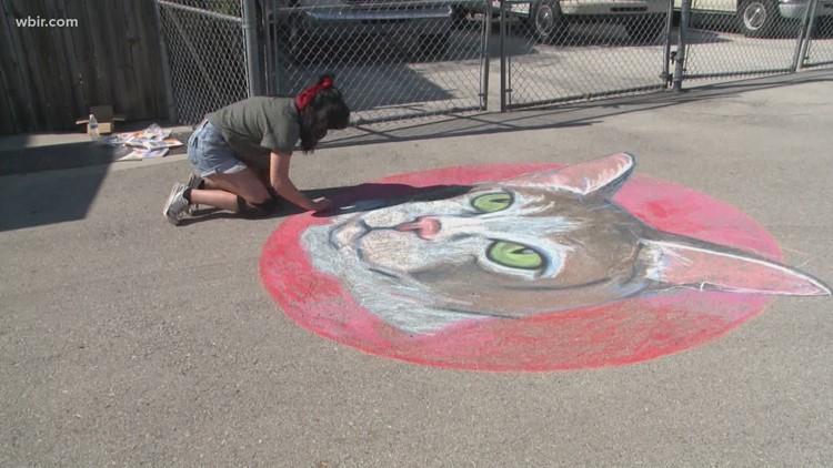 Chalk Your Walk underway for Dogwood Arts