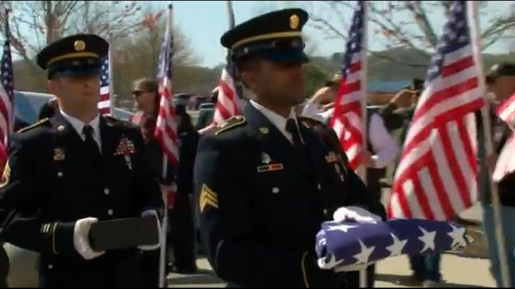 Three homeless veterans were laid to rest at the East Tennessee Veterans Cemetery in Knoxville on April 11, 2018.