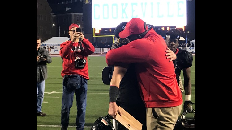 Bryson Rosser embraces Dakota Fawver
