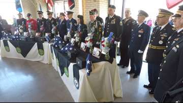 Strangers and fellow veterans pay final respects to 7 veterans