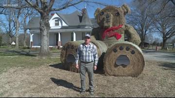 'Hay man' creates public works of art in North Carolina