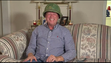 'It still fits!' | Burlington Veteran gets back long lost army helmet for Christmas