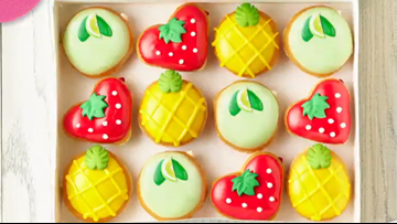 A taste of summer: Krispy Kreme drops key lime, pineapple, and strawberry doughnuts