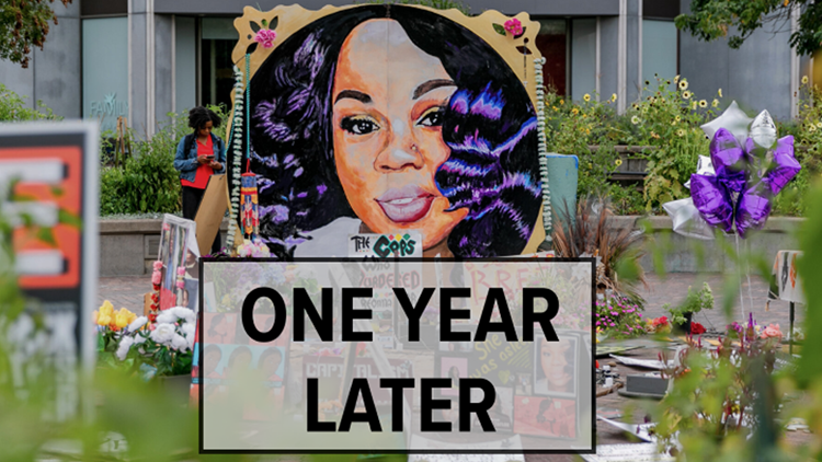 Rally held in downtown Louisville to remember Breonna Taylor year after her death