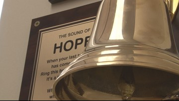 'I just beat it:' Georgia 10-year-old rings bell to celebrate beating cancer