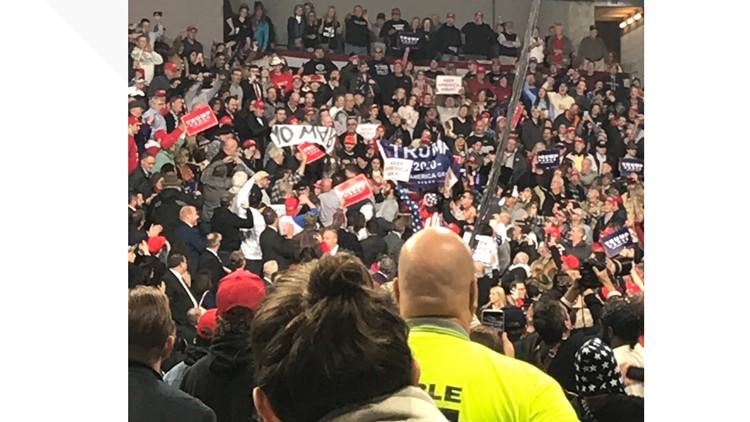 Crowd Huntington Center Trump rally