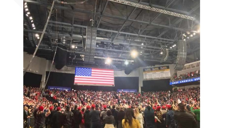 Trump Rally Huntington Center