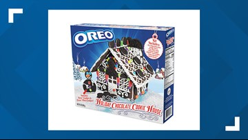 Forget boring gingerbread - OREO presents the Holiday Chocolate Cookie House Kit