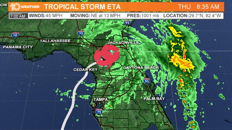 Tropical Storm Eta makes landfall in South Florida