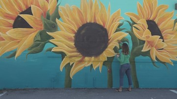 'Right now, it's so needed': Tampa Bay couple starts 'Happy Mural Project' as a way of spreading joy