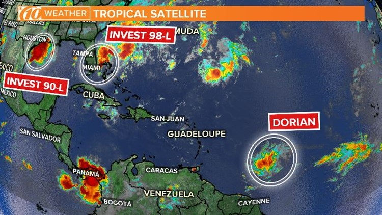 Tropical Storm Dorian: Spaghetti models, cone of uncertainty and more