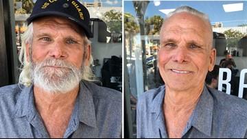 Veteran fulfills haircut promise by walking unassisted into barbershop