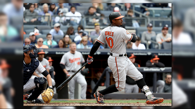 <p>The Orioles' Adam Jones got a standing ovation just one day after being called racial slurs at Fenway Park.</p>