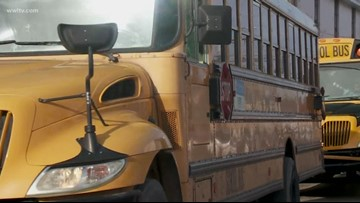 Video shows tire off school bus, students jumping out onto highway bridge