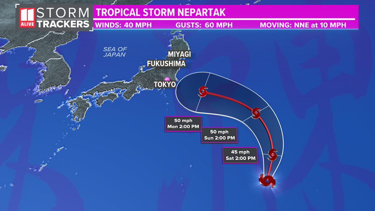 Tropical system will impact Tokyo Olympics next week