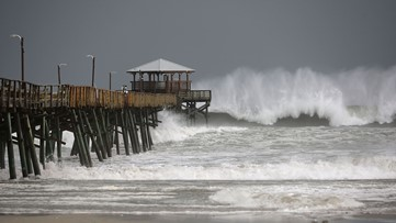 WATCH: Florence live streams from the Carolina coastline