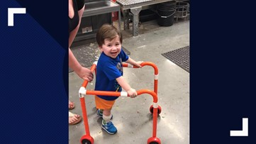 Home Depot workers build boy's walker out of PVC piping