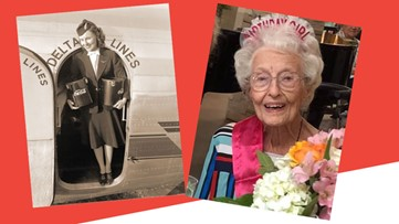 Original Delta flight attendant turns 103