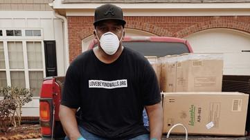 Atlanta man assembles portable hand washing stations for homeless