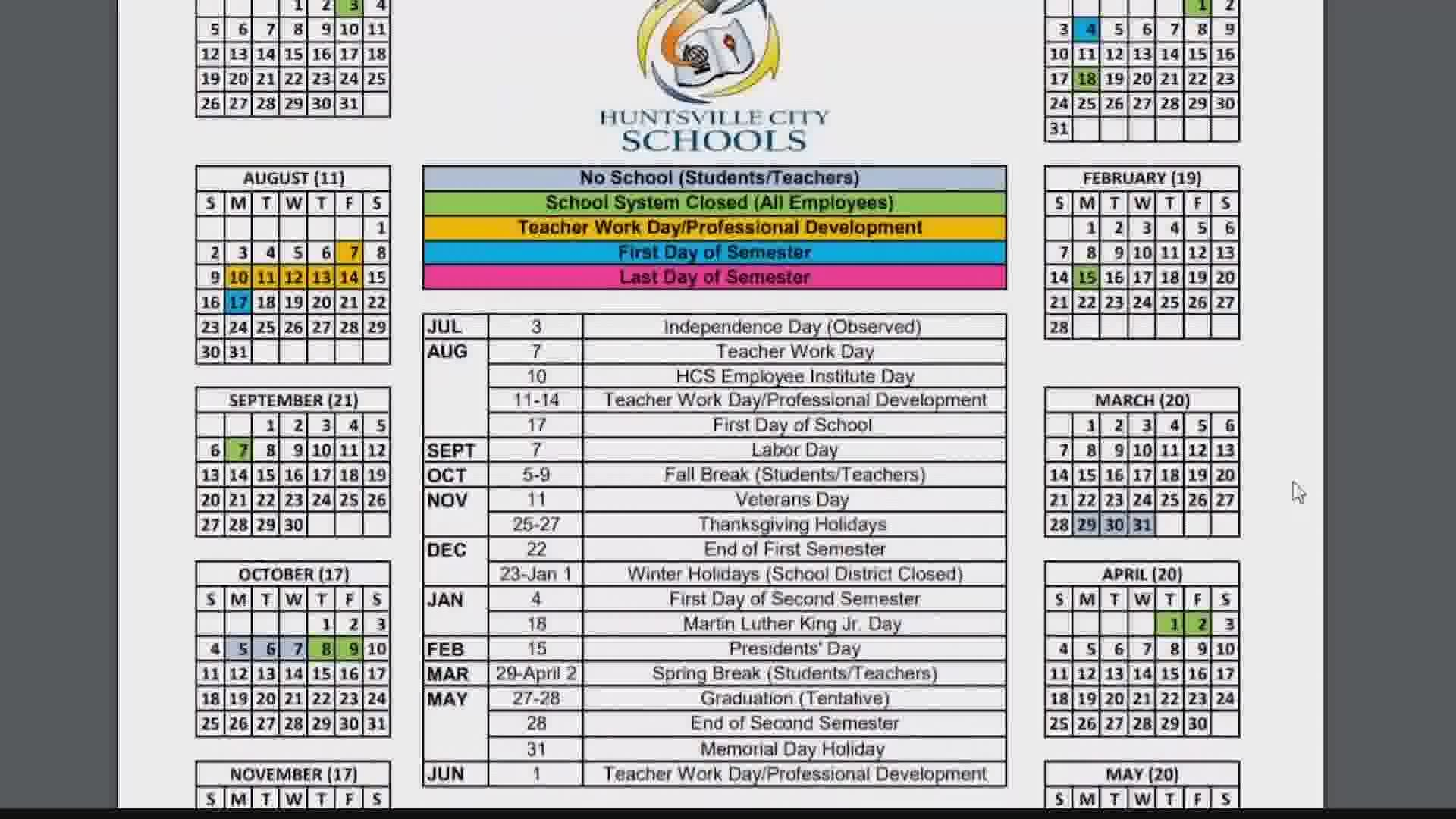 Huntsville City Schools asks community to vote on school calendar