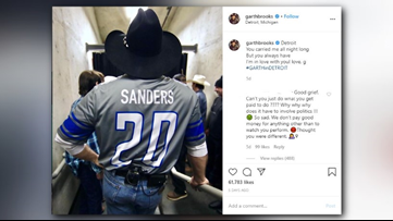 Is Garth Brooks a Bernie bro? Country icon takes heat for wearing Lions jersey